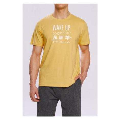 Pizama Wake Up NMP-310 Zolto-szara Atlantic