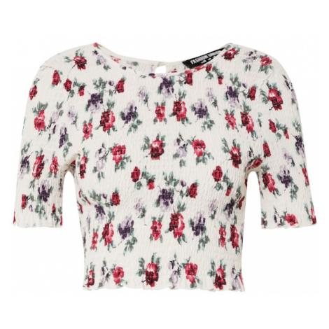 Fashion Union Koszulka 'JERI' trawa zielona / fioletowy / różowy / biały