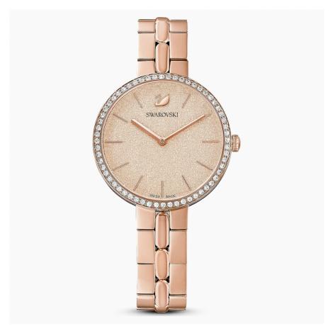 Zegarek Cosmopolitan, bransoleta z metalu, różowy, powłoka PVD w odcieniu różowego złota Swarovski