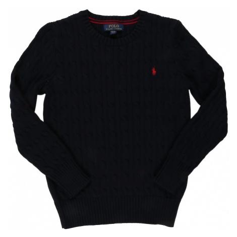 POLO RALPH LAUREN Sweter granatowy