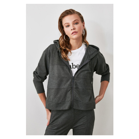 Bluza z kapturem damska Trendyol Zipper detailed