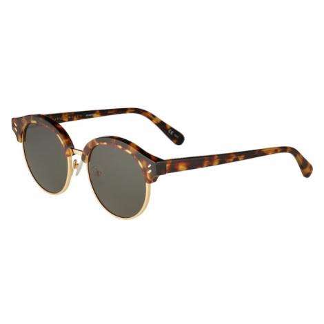 Stella McCartney Okulary przeciwsłoneczne 'SC0120S 50 Sunglass WOMAN BIO ACETAT' zielony / brązo