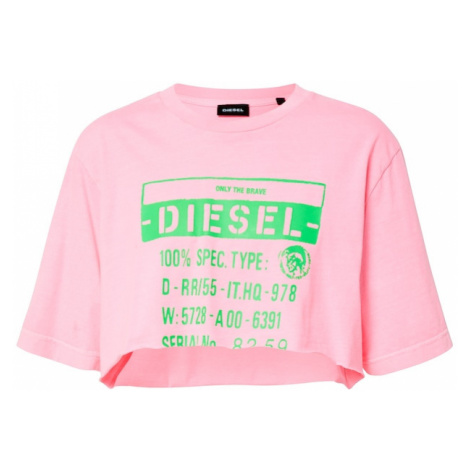 DIESEL Koszulka 'T-Croppy' różowy