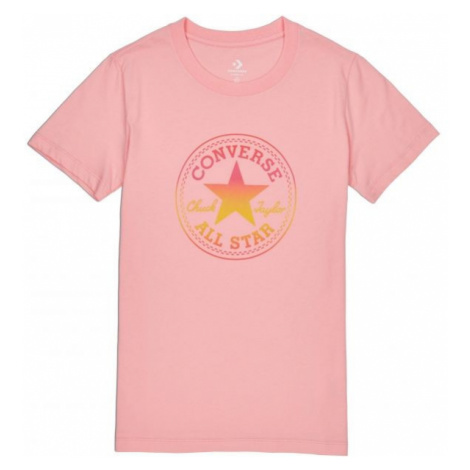 Converse OMBRE CP CREW TEE różowy L - Koszulka damska