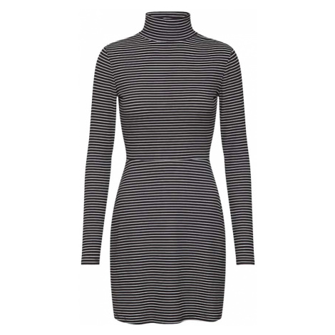 Fashion Union Sukienka 'ROGER' czarny / biały
