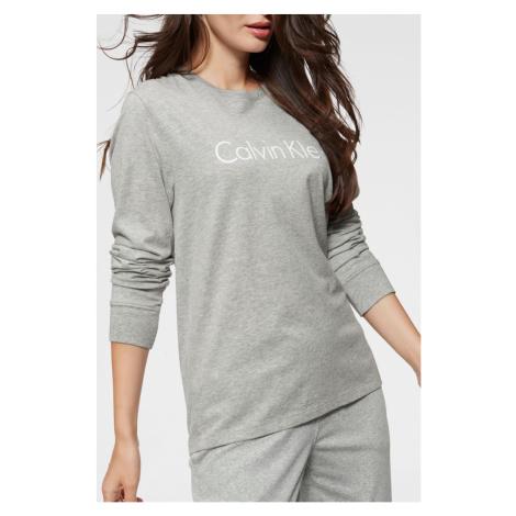 Calvin Klein szara koszulka damska L/S Crew Neck z logiem