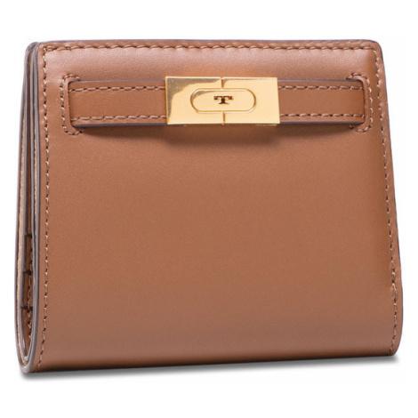 Tory Burch Mały Portfel Damski Lee Radziwill Mini Wallet 73584 Brązowy