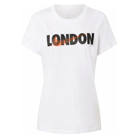 Nike Sportswear Koszulka biały / czarny / pomarańczowy