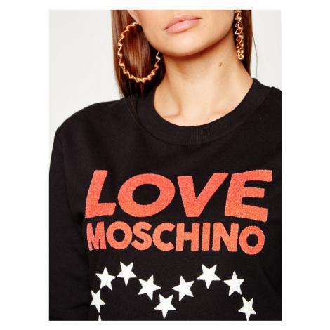 LOVE MOSCHINO Sukienka dzianinowa W5B4901E 2124 Czarny Regular Fit