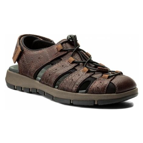 Sandały CLARKS - Brixby Cove 261315217 Dark Brown Leather
