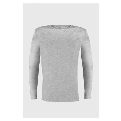 Szara koszulka z długimi rękawami Cotton Nature Ysabel Mora