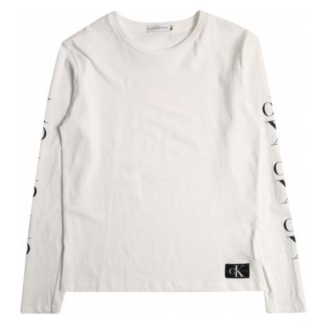 Calvin Klein Jeans Koszulka 'MIRROR MONOGRAM LS T' biały