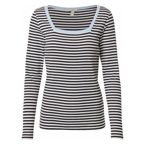 EDC BY ESPRIT Koszulka niebieski / biały / jasnoniebieski