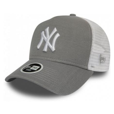 New Era 9FORTY W AF TRUCKER MLB RIBBED JERSEY NEW YORK YANKEES szary  - Klubowa czapka typu truc