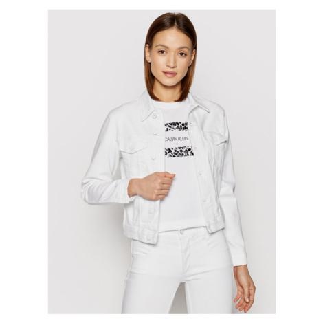 Calvin Klein Kurtka jeansowa Denim Trucker K20K202826 Biały Regular Fit