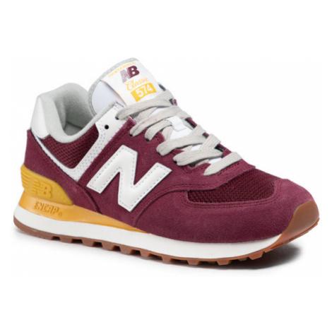 New Balance Sneakersy WL574VN2 Bordowy