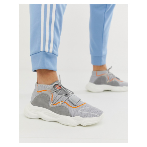 BoohooMAN chunky trainers in grey