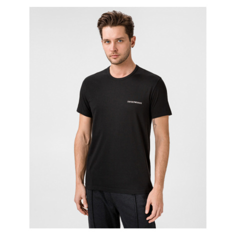 Emporio Armani 2-pack Dolna koszulka Czarny Niebieski