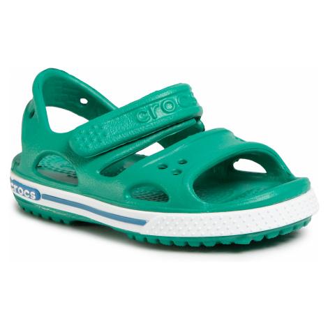 Sandały CROCS - Crocband II Sandal Ps 14854 Deep Green/Prep Blue