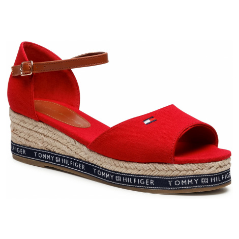 Espadryle TOMMY HILFIGER - Rope Wedge Sandal T3A2-31056-0048300 S Red 300