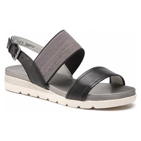 Sandały CAPRICE - 9-28106-22 Black Perlato 016