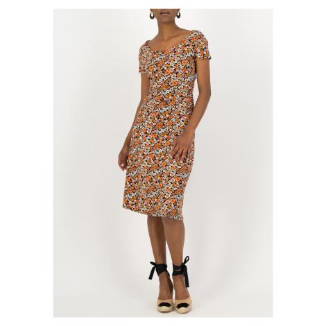 Blutsgeschwister kolorowa sukienka Nouvelle Vague Mali Meadow