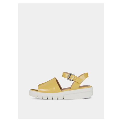 Żółte sandały damskie na platformie Geox Wimbley