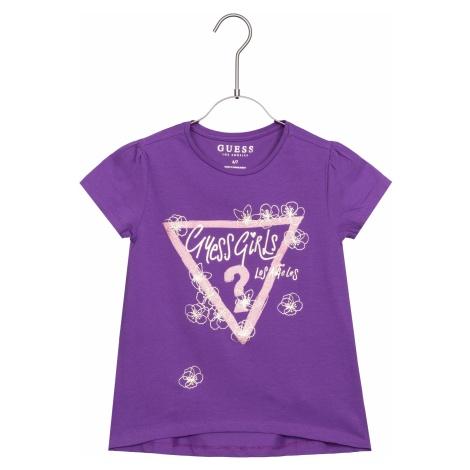 Guess Koszulka dziecięce Fioletowy