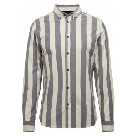 !Solid Koszula 'Juan' szary / beżowy