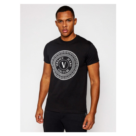 Versace Jeans Couture T-Shirt B3GWA7TD Czarny Slim Fit