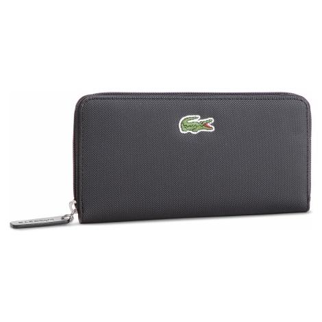 Duży Portfel Damski LACOSTE - L Zip Wallet NF2285PO Black 000