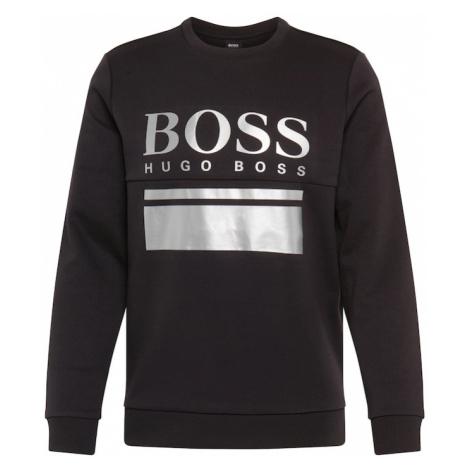 BOSS ATHLEISURE Bluzka sportowa 'Salbo 1' czarny / srebrny Hugo Boss