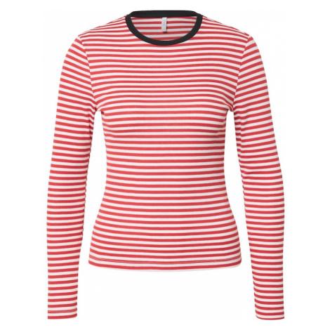 ONLY Koszulka 'ONLTINEA' czerwony / offwhite