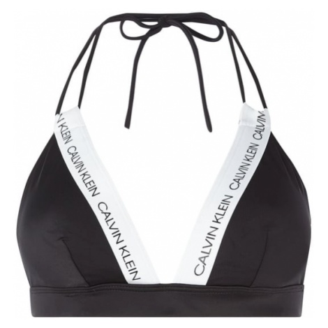 Góra bikini z paskami z logo Calvin Klein