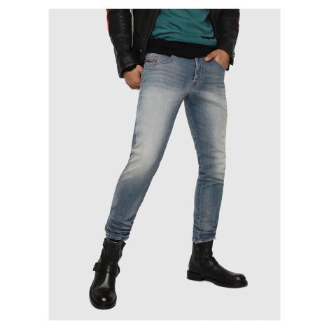 Jasnoniebieskie męskie jeansy slim fit Diesel