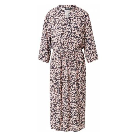 SOAKED IN LUXURY Sukienka 'Zaya' czarny / biały / czerwony / brązowy