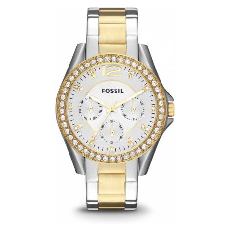 Zegarek FOSSIL - Riley ES3204 2T Silver/Gold