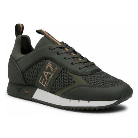 EA7 Emporio Armani Sneakersy X8X027 XK050 N439 Zielony