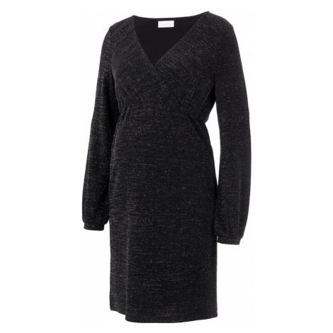 MAMALICIOUS Sukienka czarny / szary Mama Licious