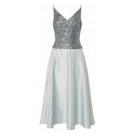 SWING Sukienka koktajlowa aqua / srebrno-szary