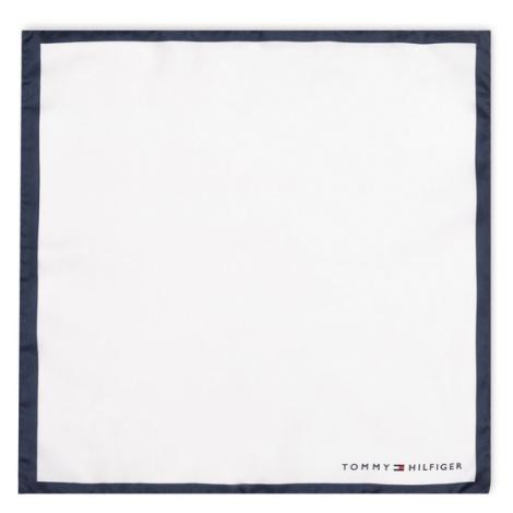 TOMMY HILFIGER Poszetka Silk Solid Pocket Suare TT0TT06105 Biały