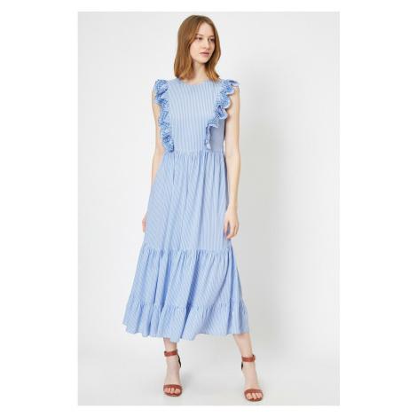 Koton Women Blue Ruffle Detailed Maxi Dress