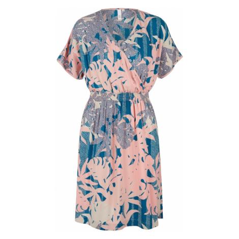 Q/S designed by Sukienka beżowy / różowy pudrowy / benzyna