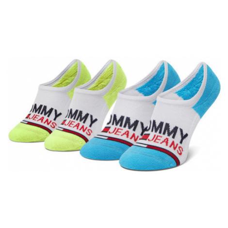 Tommy Jeans Zestaw 2 par stopek damskich 100000402 Biały Tommy Hilfiger