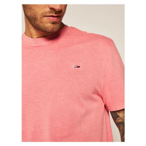 Tommy Jeans T-Shirt Sunfaded Wash Tee DM0DM08332 Różowy Regular Fit Tommy Hilfiger