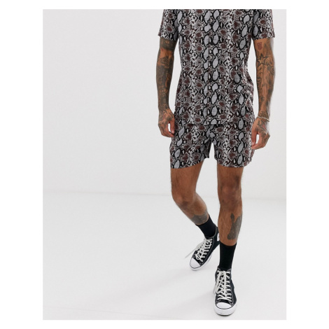 Another Influence CO-ORD snake print shorts