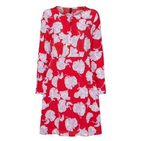 Y.A.S Letnia sukienka 'Сinco' liliowy / ognisto-czerwony / biały