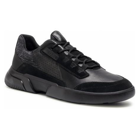Sneakersy GEOX - U Smoother A U04AFA 08522 C9996 Black/Black