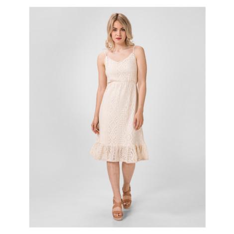 Vero Moda Lea Sukienka Beżowy