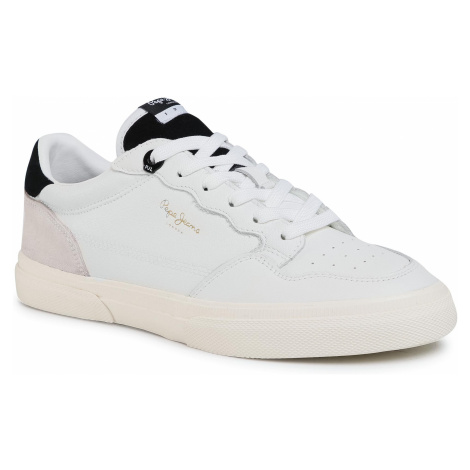 Sneakersy PEPE JEANS - Kenton Original Lth PMS30672 White 800
